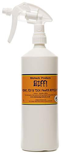 Biteback Products 'BIFF!' ™ Reines und leistungsstarkes 20% Icaridin Fliegenschutzmittel 1000ml SPRAY