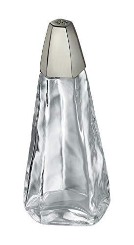 Alessi Pfefferstreuer aus Glas versilbert, transparent, 8.7 x 12.5 x 51 cm