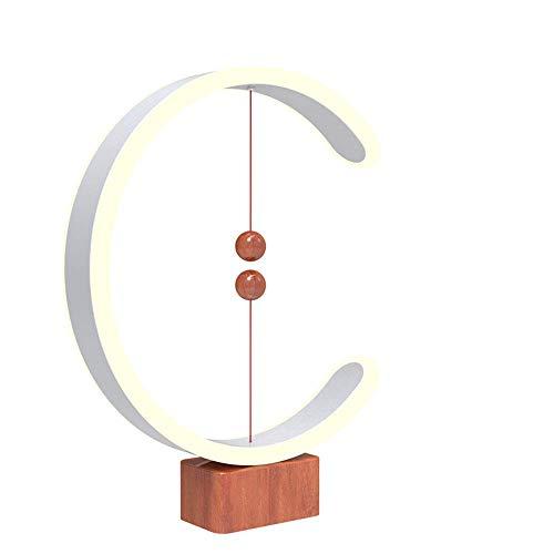 Lámpara de equilibrio Heng, interruptor magnético en el aire, luz LED alimentada por USB en el aire, lámpara de noche suave, lámpara de mesa Lámparas de mesa cálidas para cuidar los ojos, lámpara de e