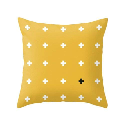 Toll2452 Yellow Swiss cross Cross pillow cover yellow crosses pillow Mustard yellow cushion Mustard yellow pillow cross cushion yellow throw pillow