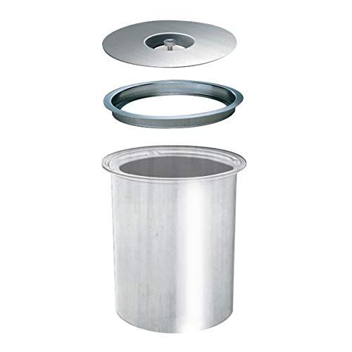 WESCO Ergo Master 5 L, Edelstahl mit Alu-Einsatz, Einbau Abfallsammler für Arbeitsplatte Mülleimer