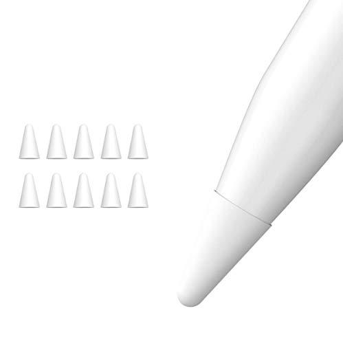 Apple Pencil ペン先 カバー シリコン 10個入 アップルペンシル ペン先 保護 ケース 超薄 柔らかい 强滑り止め 静かな (第1、2世代 適用 スリーブ) (ホワイト)