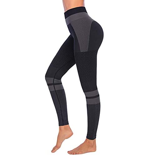 Yaavii Seamless Gym Leggings for Women High Waisted Yoga Pants Tummy Control Workout Fitness Leggings