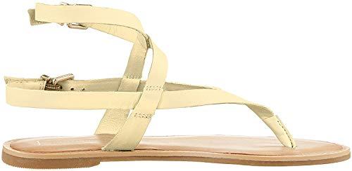 Tommy Hilfiger Damen Iconic Flat Strappy Sandal Zehentrenner, Gelb (Golden Haze 731), 40 EU