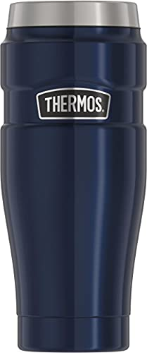 THERMOS Stainless King Vacuum-Insulated Travel Tumbler, 16 Ounce, Midnight Blue
