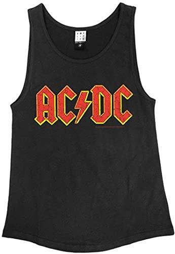 Amplified Herren ACDC Logo Sport T-Shirt, Braun - Braun, M