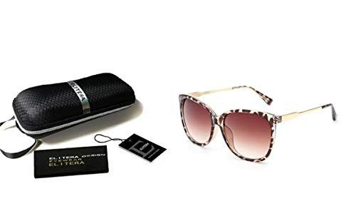 Hengtaichang Sunglasses Luxury Women Sunglasses Fashion Round Ladies Vintage Retro Brand Designer Oversized Female Sport Sun Glasses Tide Leopard-Package B