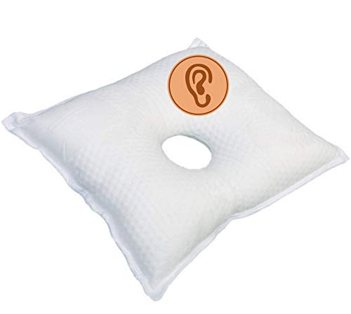 OrtoPrime Almohada Condrodermatitis - Cojín Antiescaras para Oreja - Almohada Antiescaras para Oreja - Almohada Ortopédica Terapéutica - Alta Protección - Almohada Cervical médica