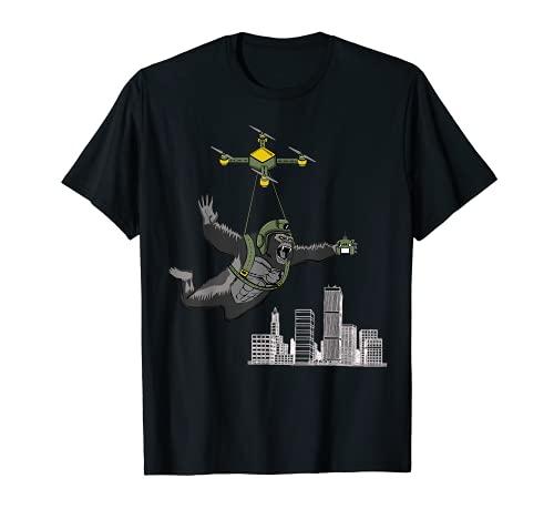 Skydiving Gorilla Drone Skydive Gear regali per gli uomini Sky Diver Maglietta
