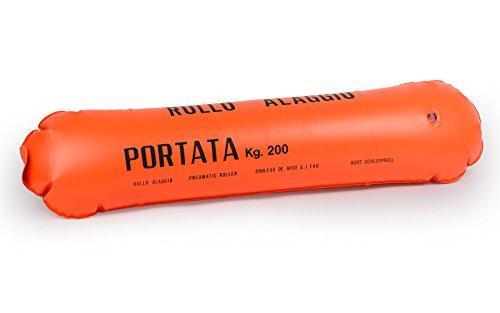 wellenshop Bootsrolle Sliprolle Sliphilfe bis 400kg Kunststoff PVC aufblasbar für Schlauchboot Boot Bootstrailer Schlepprolle