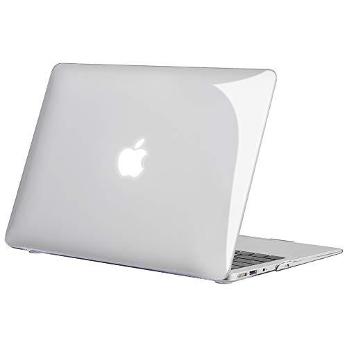 TECOOL Funda MacBook Air 13 (Versión: 2010-2017, Modelo: A1466 / A1369), Delgado Cubierta de Plástico Dura Case Carcasa para MacBook Air 13 - Cristal Transparente