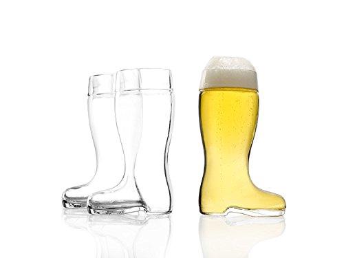 Stölzle Oberglas Bierstiefel 0,25l - mit Füllstrich, Bierglas, Stiefel, Glasstiefel, 3 Stück, spülmaschinenfest, hochwertige Qualität