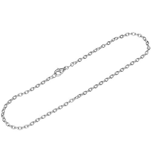 NKlaus Pulsera de plata de ley 925 de 26 cm con ancla y cadena de diseño para mujer 12586