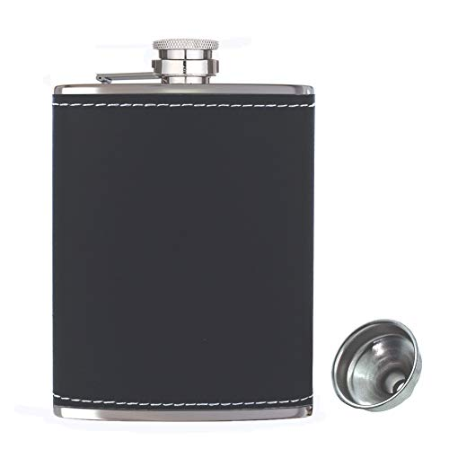 Pocket Hip Flask 8 oz with Funnel, Alcohol Flask, Liquor...