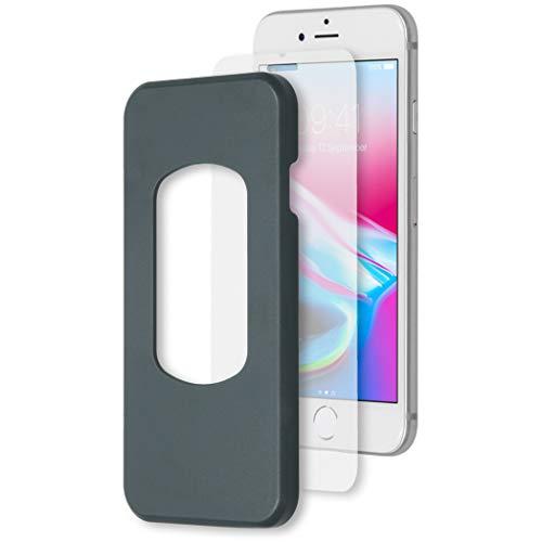 ACCEZZ Compatible con iPhone 6/6s, iPhone 7, iPhone 8 – Protector de Pantalla de Cristal Templado 9H – Protector de Pantalla + aplicador
