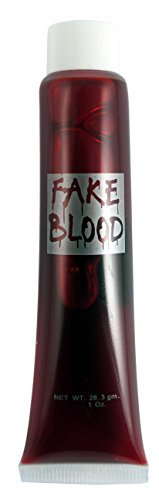The Fashion City Halloween Horror Party Theme zumbie Effect Grey Make Up in Tube with Applicator,Fake Blood Capsules,Fake Skin,Fake Blood by