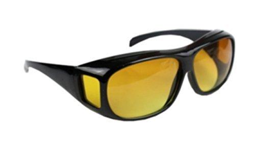 夜用 オーバーグラス イエロー レンズ サングラス 夜間運転 コントラストアップ メガネの上からOK