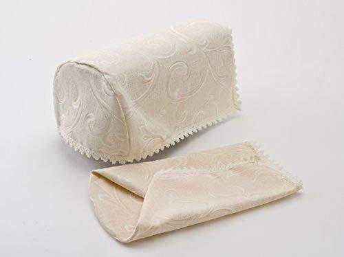 QPC Direct Swirl Jacquard Design Pair of Arm Caps (Cream)