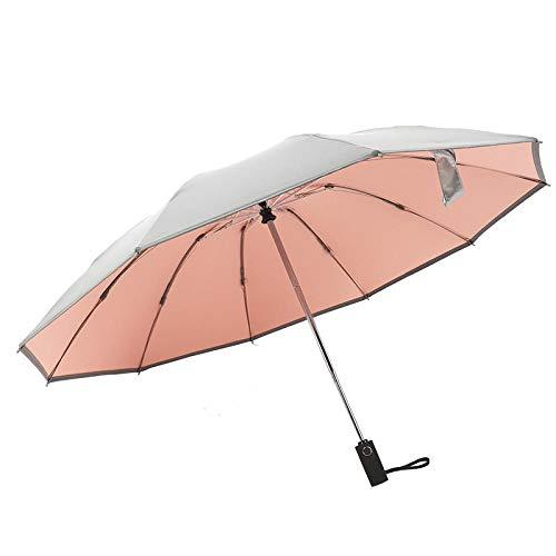 Paraguas de protección solar inversa plateado de titanio pa