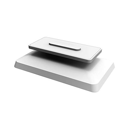 YOKING - Supporto di montaggio di base antiscivolo, supporto magnetico girevole regolabile, supporto per altoparlante per Amazon-Echo Show 8 (bianco)