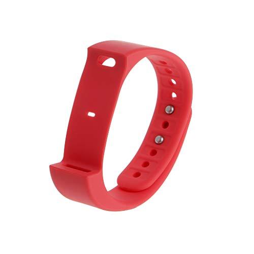 Mikiya Iwown I5 Plus Armband TPU Ersatzarmband für Iwown I5 Plus Smart Bracelet (Rot)