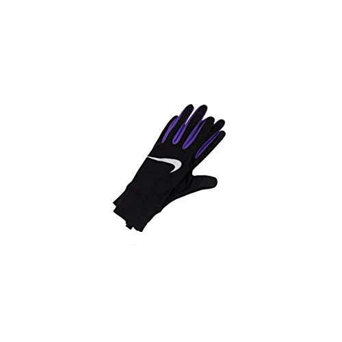 Nike Women's Lightweight Tech Running Gloves, Black/Psychic Purple/Silver, M