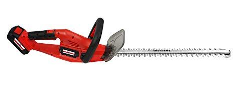 Grizzly Akku-Heckenschere mit 20 V, 2,0 Ah Lithium Ionen Akku und Schnellladegerät, Lasercut Messer mit 52 cm Schnittlänge, 15 mm Zahnabstand, Präzsionsmesser, Messerbremse, Rundum-Softgriff