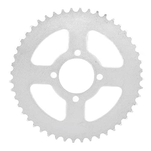 RiToEasysports Piñón de Cadena Trasero, 420 52mm 48T Piñón Trasero de Acero para Bicicleta eléctrica Kart Motocicleta