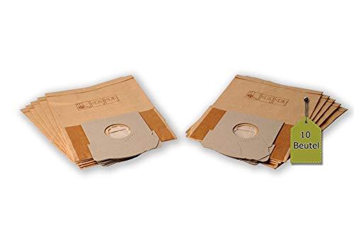 eVendix Staubsaugerbeutel passend für Alaska VC 2200, 10 Staubbeutel + 2 Mikro-Filter + 2 Motor-Filter, kompatibel mit Swirl X16