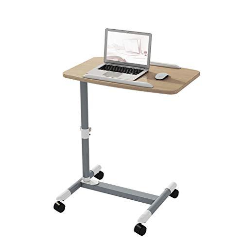 xy MDF Schreibtisch Laptop Tisch Mit Kartensteckplatz, Höhenverstellbar, Laptop Warenkorb Fach Kompakt Verstellbare Arbeitsstation Bett Schlafsofa DIY 60 * 46 * 58-88 cm