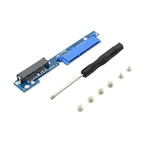 JMT 2.5 Pulgadas Micro SATA 7 + 6 Macho a SATA 7 + 15 Hembra Adaptador Tarjeta Serial ATA Convertidor para Lenovo 310 312 320 330 IdeaPad 510 5000