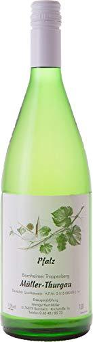 Pfälzer Weißwein Müller Thurgau halbtrocken 1 x 1 L Flasche direkt vom Winzer