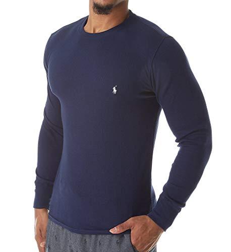 Polo Ralph Lauren Herren Thermo Shirt Big & Tall Long Sleeve Soft & Light T-Shirt -  Blau -  XXX-Large Hoch
