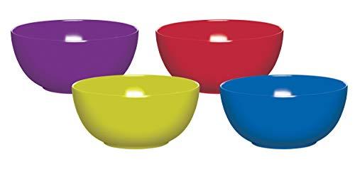 COLOURWORKS Cuencos, Multicolor, 15.5x28.5x3.5 cm, 4 Unidades