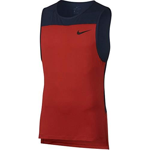 Nike M NP Tank LV T-Shirt pour Homme S Rouge/Noir (Mystic Red/Obsidian/Black)