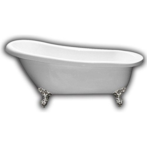 Cambridge Plumbing Acrylic Slipper Bathtub 61