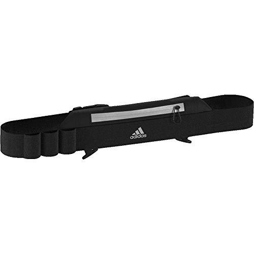 adidas Run Belt Cinturón de Correr, Unisex Adulto, Black/Black/Reflective, NS