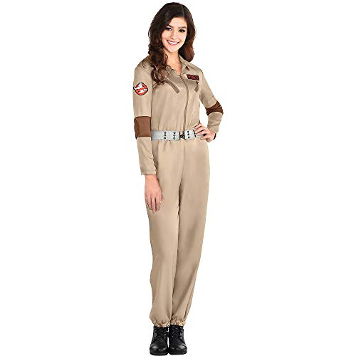 Classic 1984 Ghostbusters Jumpsuit Costume for Women with badges. S, M, L, XL, Plus Sizes