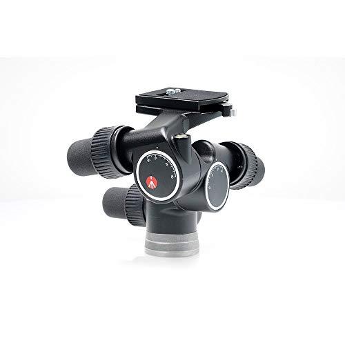 Manfrotto Rótula de Cremallera Digital Pro, Cabezal para Trípode con 3 Ejes de Movimiento de Alta Precisión para Equipamiento de Fotogradía y Cámara, Creación de Contenidos, Vlogging