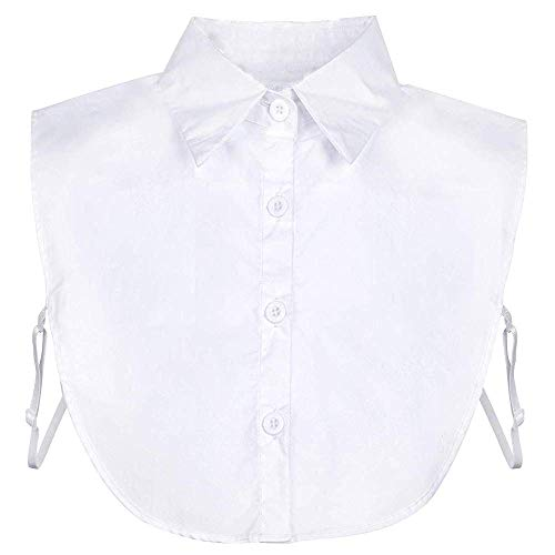 Fake Collar Detachable Dickey Collar Blouse Half Shirts Peter Pan Faux False Collar for Women & Girls Favors (White)