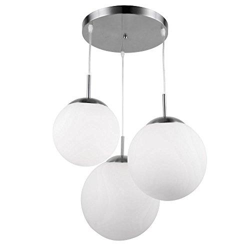 Design Decken Lampe Wohn Ess Zimmer Glas Kugel Hänge Pendel Leuchte satiniert Globo 1581-3