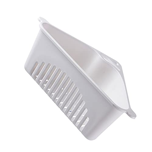 Hemoton Estante triangular para desagüe multifuncional triangular, estante colgante para fregadero, cesta de almacenamiento, soporte de esponja de lechón blanco