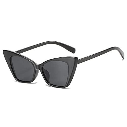 DLSM Vintage Pequeño Gato Ojo Gafas de Sol Mujeres Moda Punk Hembra Gafas Tonos de Gafas de Sol Rojas UV400 Adecuado para la conducción al Aire Libre de la Fiesta-C1