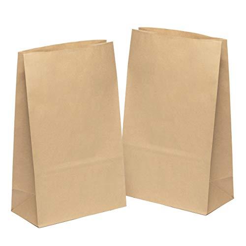 kgpack 50 STK. Papiertüten klein 31 x 19 x 10 cm Bodenbeutel Obstbeutel Mitgebseltüten Butterbrottüten Süßigkeiten Geschenkverpackung Gastgeschenke Tüten aus Braun Kraft Geschenkpapier