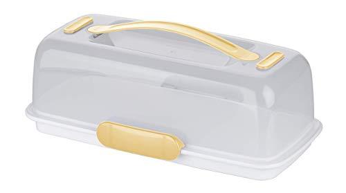 Tescoma DELÍCIA Porta Torte Rettangolare, Bianco, 36x18x12 cm