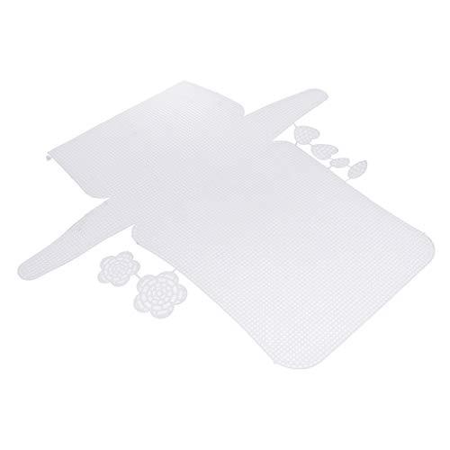 Amuzocity Lona de Plástico Latch Hook Canvas Mesh Underlay en Blanco para Flores