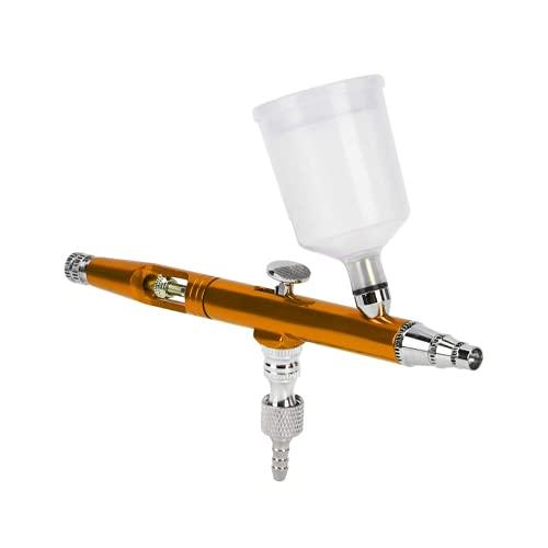 Pistola de pulverización, aerógrafo de pintura, modo de interruptor de doble acción, ligero para pintura en color, camisetas publicitarias, arte de uñas(oro)