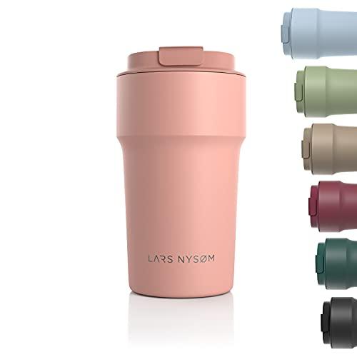 LARS NYSØM Thermo Coffee Mug-to-go 500ml   BPA-vrije Travel Mug 0,50 Liter met Isolatie   Lekvrije Roestvrijstalen…