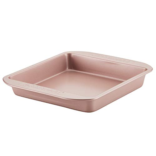 Farberware Nonstick Bakeware Baking Pan / Nonstick Cake Pan, Square - 9 Inch, Red