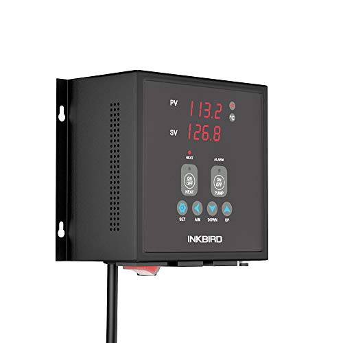 Inkbird PID Thermostat Digital Temperature Controller Alarm 1800W 120V 15A Pre Wired Output NTC Sensor R25 ℃ 10KΩ Waterproof Probe Heat Cool On Off Pump Control IPB16S